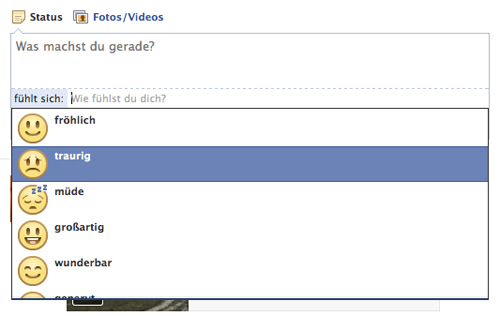 Neue Facebook Funktion - Feelings