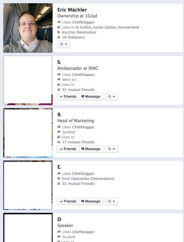 Facebook Fanliste - Fanliste