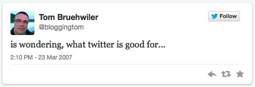 1. Tweet von Thomas Brühwiler