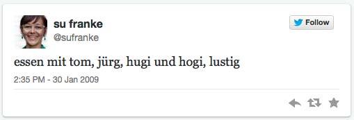 1. Tweet von Su Franke