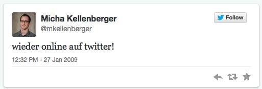 1. Tweet von Kellenberger