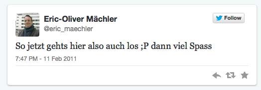 1. Tweet von Eric maechler