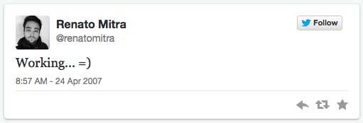 1. Tweet von Mitra