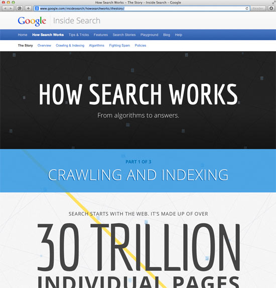 Google Inside Search: HOW SEARCH WORKS - From algorithms to answers